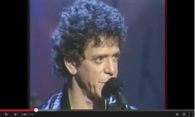 Still from Lou Reed 1997 performance on youtube