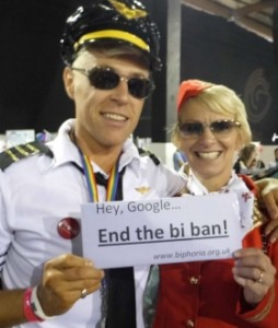 End The Bi Ban supporters at Manchester Pride